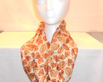 Fall leaves cowl scarf