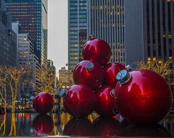 New York City Christmas Photography, Holiday Print, NYC Photography, Christmas in NYC