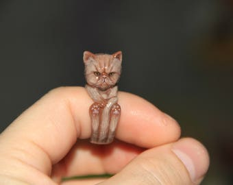 Persian Cat Ring/ Persian Cat Gifts/ Cat ring/ Persian Art / Gifts for women/ Gift for her/ Gift for girlfriend/ Gift for daughter