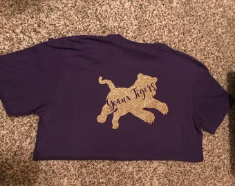 Personalized LSU T-shirt Geaux Tigers