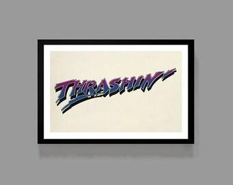 Skateboarding Movie Poster - Skater Print - 80's Skater Film Classic Teen Drama Action