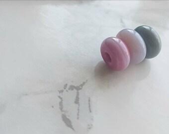 Pastel  Spacer Lampwork Beads