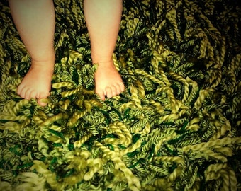 Crocheted  Grass Rug 52x68 in.