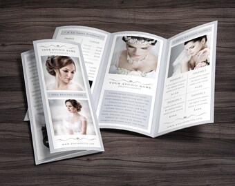 "Photography Trifold Brochure Template for Photoshop 002 - 8.5"" x 11"" - Photographer Template - Photography Template"