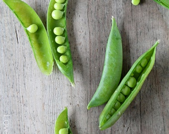 Pea Food Photography - Printable Instant Digital Download - Kitchen Decor/Wall Art