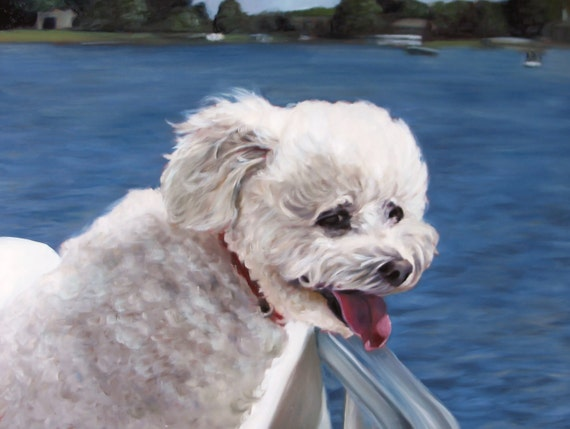 Custom PET PORTRAIT - Dog Painting - Pet Oil Painting - Excellent Gift Idea