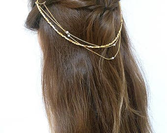 Hair Chain with pearls