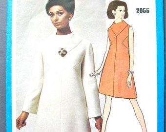 Spring Sale Uncut 60s Vogue Americana Mod Dress Pattern designed by Bill Blass  Bust 32.5 inches