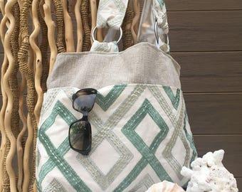 Hand made embroidered shoulder bag