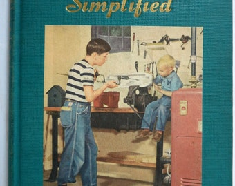 The Homemakers Encyclopedia, Home Repairs Simplified, Vintage Book, c1952, by WI JR. and Eleanor VanderPoel - V318B