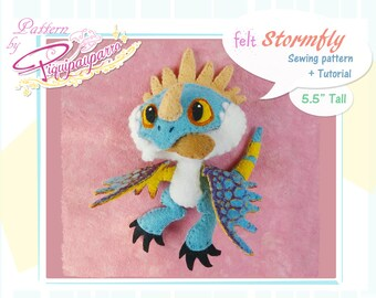 PDF Sewing pattern + instructions - Little Stormfly - DIY