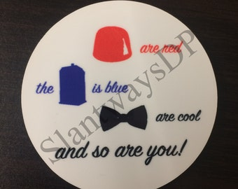 2.5 inch Doctor Who Button