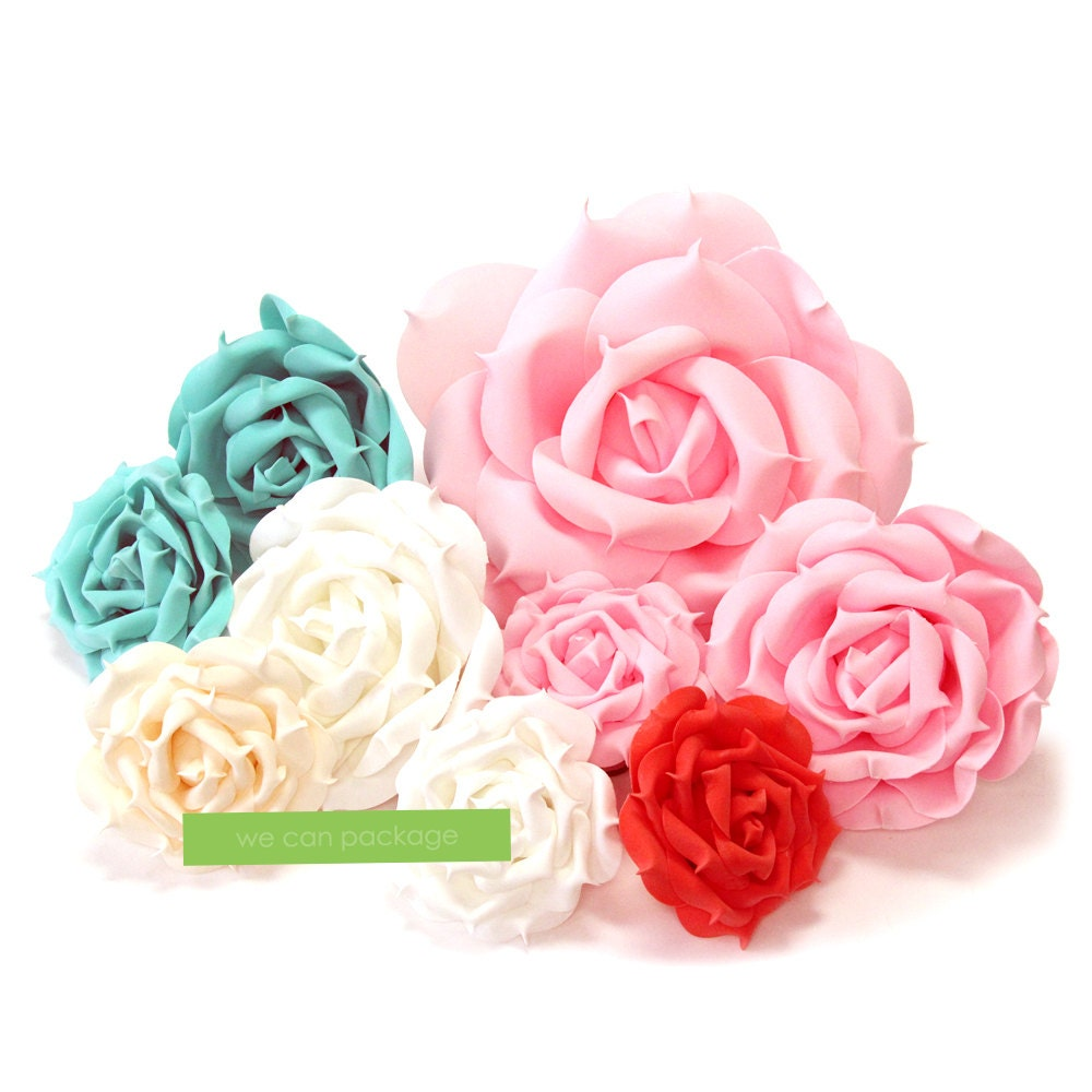 Artificial Rose Flowers for Floral Wall Backdrop and Wedding