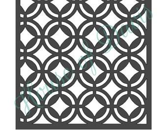 Diamond Circle Lattice Stencil - 12x12