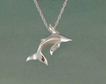 humpback whale pendant  silver. NO CHAIN