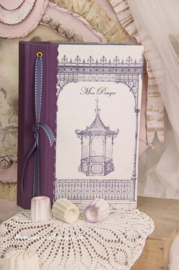 "Garden book  pavillion called ""la gloriette"".    linen garden  organizer"