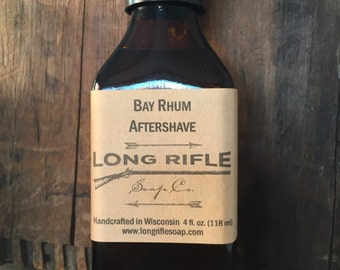 Bay Rum Aftershave | Bay Rhum post shave splash with a lime top note