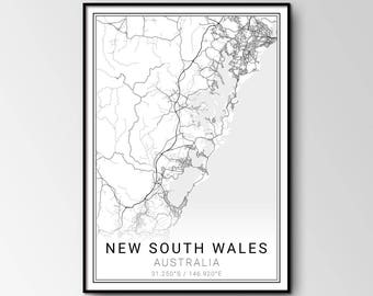 New South Wales city map