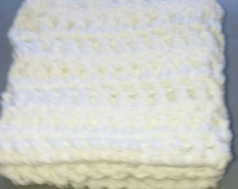 Zig Zaggy White Wash Cloths / Hand Towels / 2 pcs