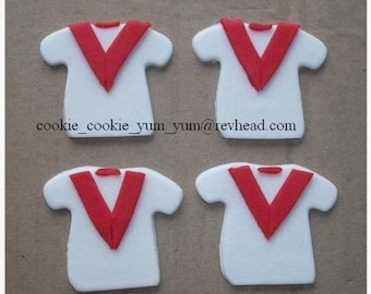 12 edible SPORTS TEAM JERSEY jumper icing cake cupcake wedding topper decoration party wedding anniversary birthday engagement