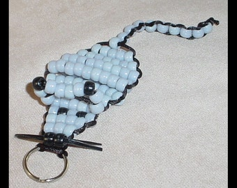 Beaded Mouse Keychain