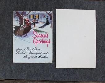 Vintage Seasons Greetings Borden's, Seasons Greetings from Elsie Elmer Beulah Beauregard Vintage Advertising