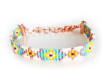 Miyuki Delica custom made bracelet pick your base color setting