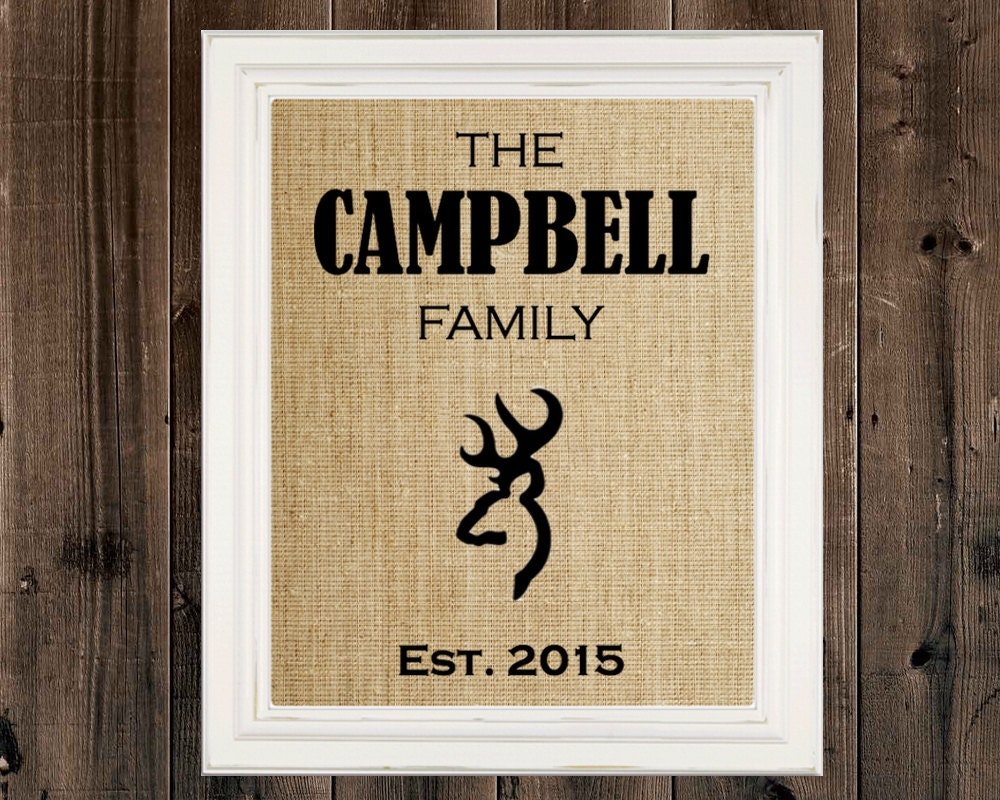 Personalized Father\'s Day Gift Browning Deer Head