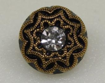 Czech Glass Button, Small, 13mm