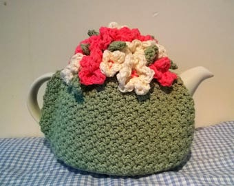 Floral tea cosy PDF crochet pattern - instant download