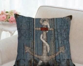 Country Anchor Coastal Designer Pillow