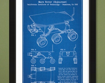 12x18 US Patent Drawing – Sojourner Mars Rover