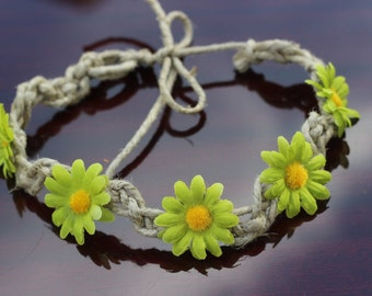Green Hemp Flower Crown