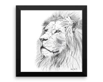 African Lion Fine Art Print