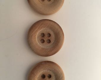 By Needful Vintage Finds:  Wooden Buttons