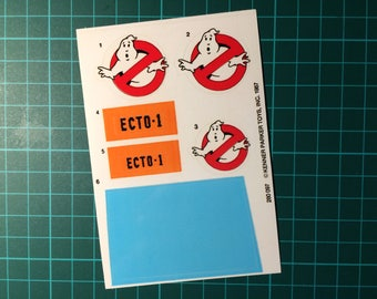 The Real Ghostbusters vintage repro die cut stickers/decals/labels for Ecto-1 Stickers Ecto 1