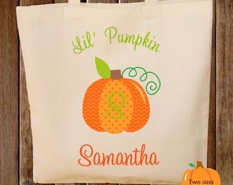 Trick or Treat Bag Pumpkin Halloween Tote Bag Trick or Treat Bag