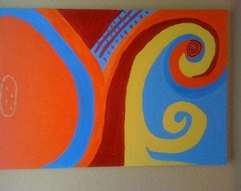 original painting inside  30 x 20