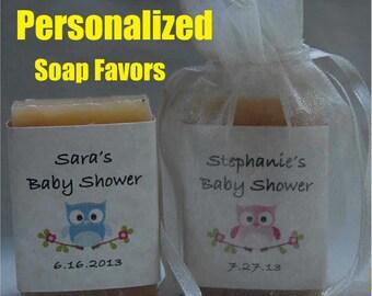 Baby Shower Favor - owl soap Favor - Personalized Party Favor- 1 oz.  soap Favors /organza bags