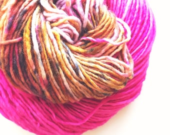 KONA hand dyed yarn. speckle and semi-solid. choose your base: fingering, sock, dk,  bulky yarn. pink coffee brown cream grey speckle yarn