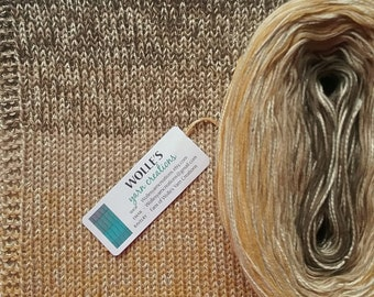 BUTTERSCOTCH SILK Medley II - Color Changing Cotton/Silk yarn - 480 yards/100 gr - Fingering Weight