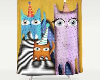 Shower Curtain - Cats