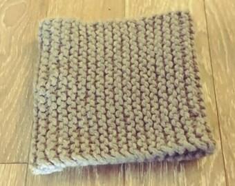 Gray wool neck warmer