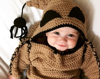 PATTERN ONLY INFANT, Oogie Boogie Monster Costume Pattern, Infant Halloween Costume Pattern, Crochet Pattern