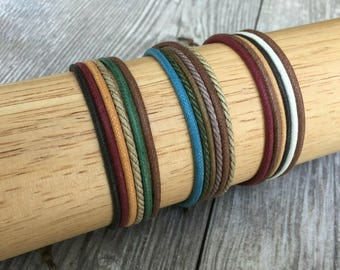 Vegan Jewellery, Hemp Cord Bracelet, Vegan Bracelet, Hemp Jewelry, Gifts Under 10