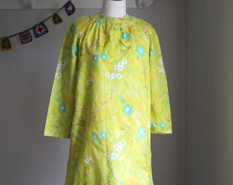 Vintage 1960's Women's Mod Shift Dress Handmade