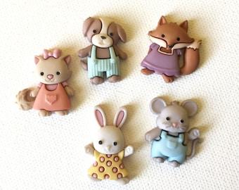 Cute Animal Magnets, Animal Critter Magnets, Mouse Magnets, Bunny Magnets, Dog Magnets, Fox Magnets, Cat Magnets, Fridge Refrigerator Magnet
