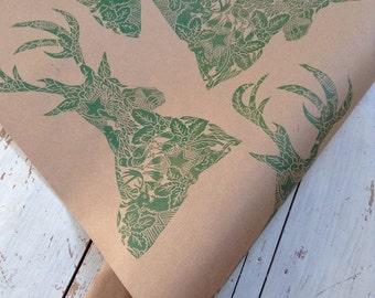 Hand Printed Luxury Gift Wrap