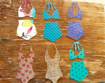 Bathing suit paper cut outs punch outs die cuts