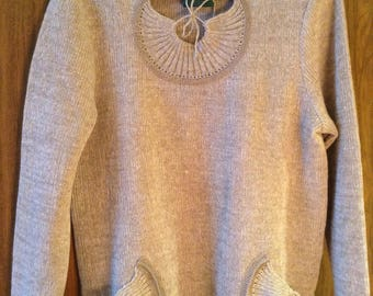 Knitted Pullover Made Of Pure Linen Thread